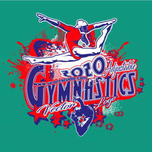 GYMNASTICS Adjustable Vector Logo Design with Live Font 302