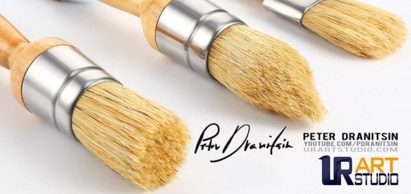 oval brushes set of 3 by Peter Dranitsin