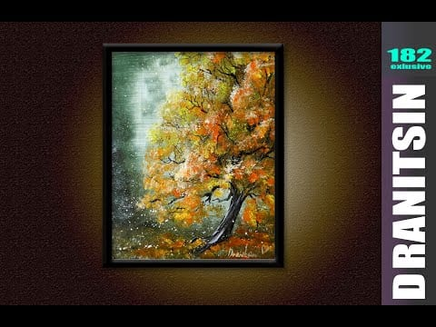 EXCLUSIVE, Autumn Tree relaxing and inspiring video tutorial 182