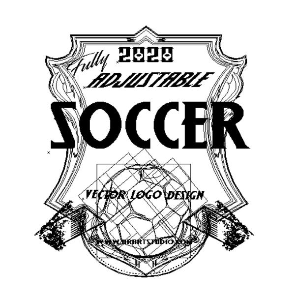 SOCCER Adjustable Vector Logo Design with Live Font 0101