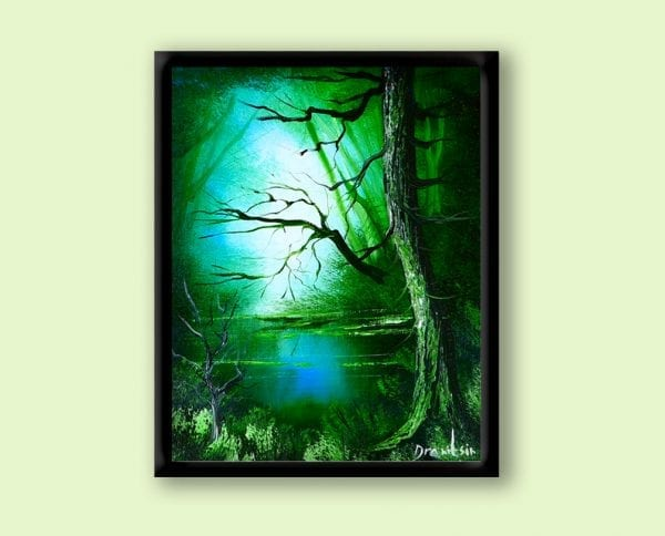 HOW TO PAINT GREEN LANDSCAPE DEEP FOREST BY DRANITSIN ART VIDEO LESSONS AND TUTORIALS