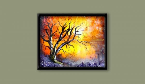 exclusive art video lesson by Peter Dranitsin landscape abstract glow tree