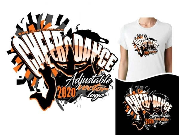 CHEER & DANCE ADJUSTABLE VECTOR LOGO DESIGN FOR PRINT 0021