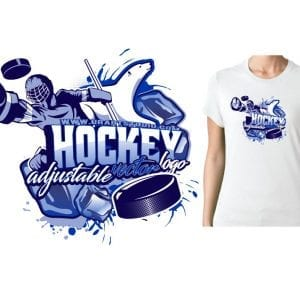 HOCKEY ADJUSTABLE POLAR BEAR VECTOR LOGO DESIGN FOR PRINT 0020