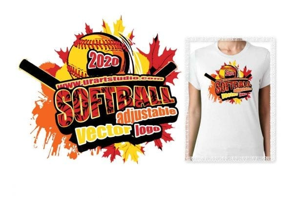 SOFTBALL ADJUSTABLE LOGO DESIGN FOR PRINT 0070