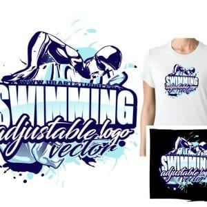 SWIMMING ADJUSTABLE VECTOR LOGO DESIGN FOR PRINT 0021