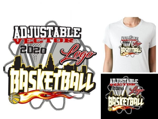 BASKETBALL ADJUSTABLE VECTOR LOGO DESIGN FOR PRINT 0022