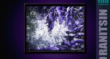 EXCLUSIVE, Step by Step art video tutorial - Purple Landscape, 190