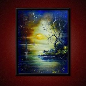 Through the Seven Seas, original acrylic painting by Peter Dranitsin