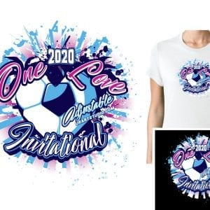 SOCCER ONE LOVE ADJUSTABLE VECTOR LOGO DESIGN FOR PRINT 0022