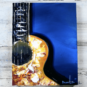 1 minute ART , Acoustic Guitar Acrylic Painting, by Dranitsin