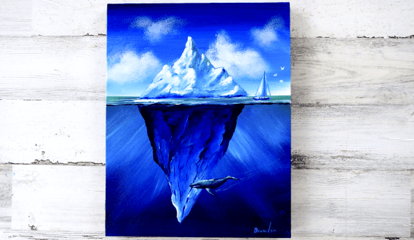How-to-paint-an-Iceberg-Wale-Sea-Birds-and-a-Sailboat-Landscape-Art