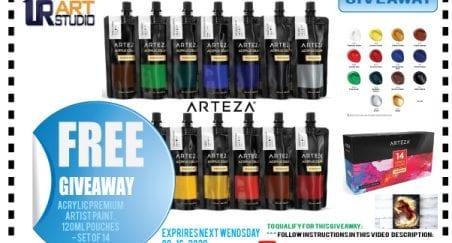 FREE Acrylic Paint Giveaway UrARtStudio