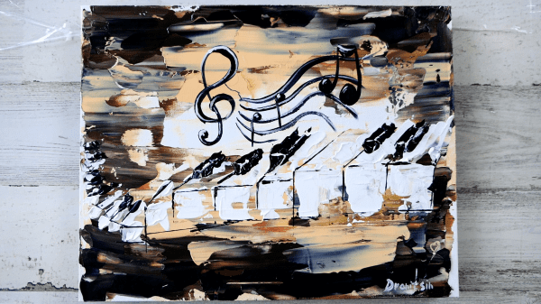 Abstract Piano Painting by Dranitsin