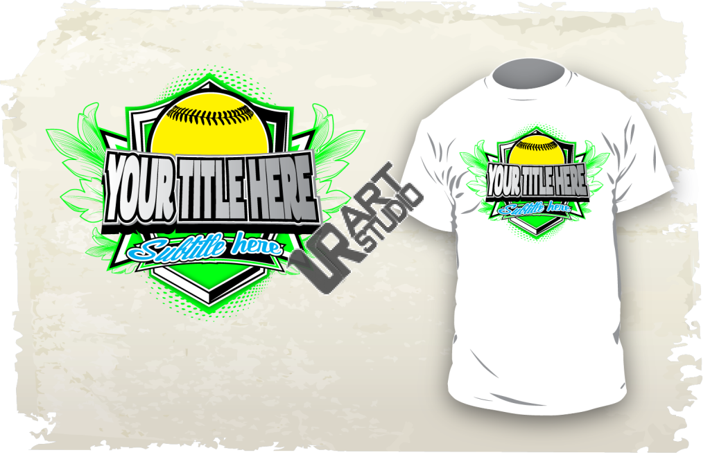 Download vector design for custom apparel  your softball event