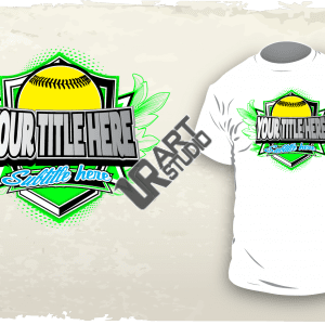 Softball vector design 1