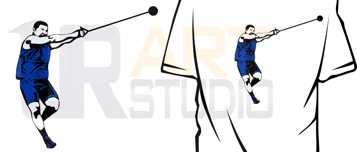 HAMMER THROWER DESIGN FOR TSHIRT AND APPREL DOWLOAD print
