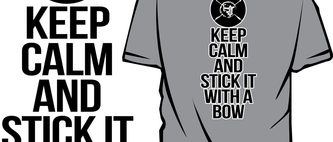 KEEP IT CALM AND STICK IT WITH A BOW FREE VECTOR DOWNLOAD