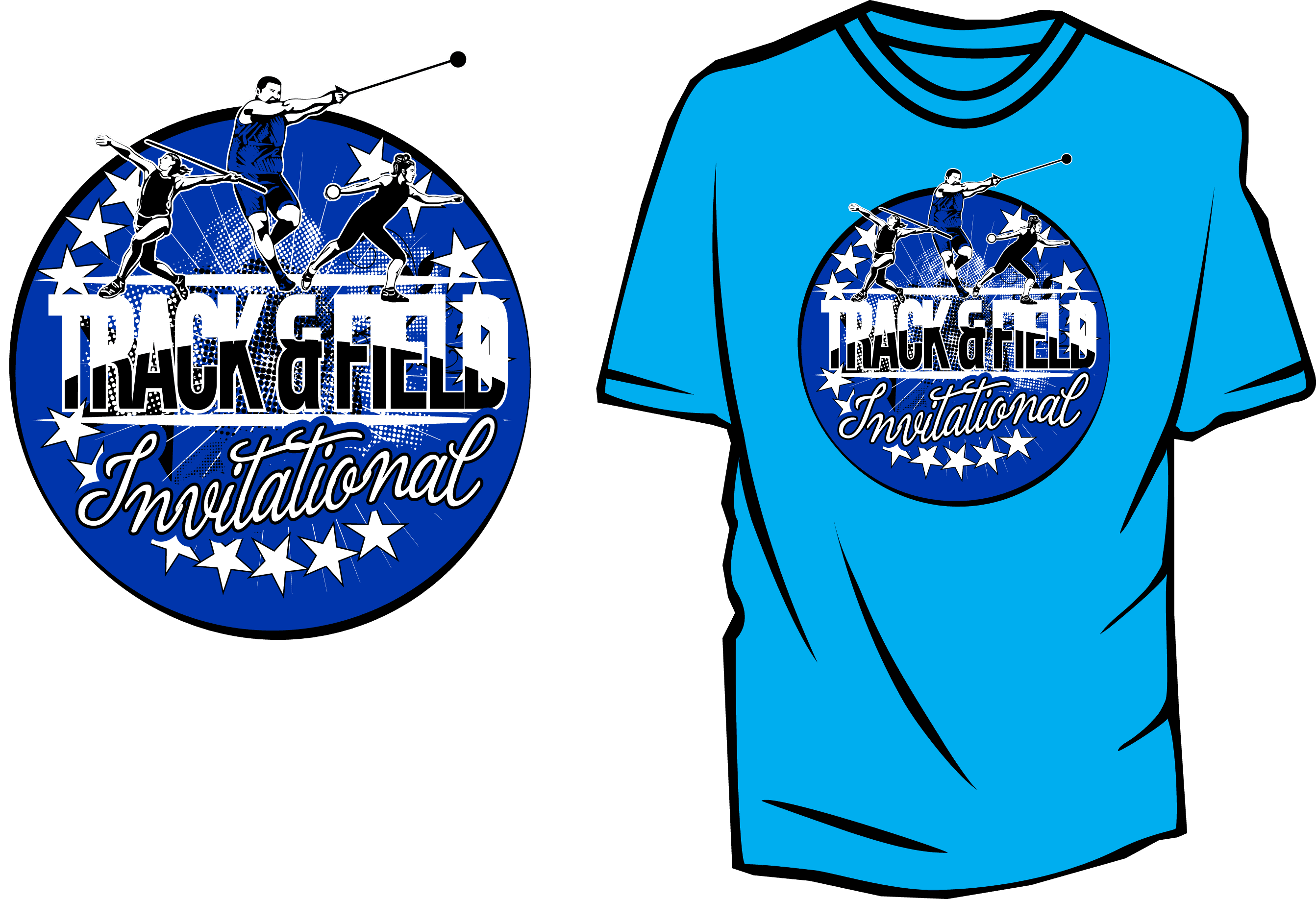 Track And Field Vector Design For Tshirt And Apparel Download Print