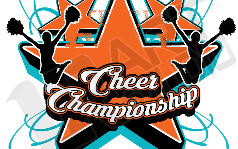 Vector Background for Cheer and Dance Logo Design for T-shirt 1