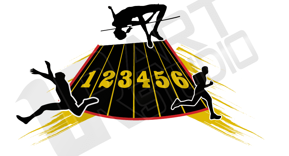 Vector Background for Track and Field Logo Design for T-shirt 1