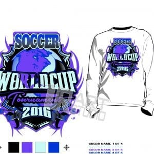 World Cup Soccer tournament tshirt vector design for print