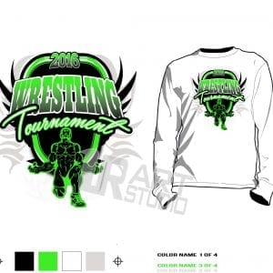 Wrestling tournament tshirt vector design for print