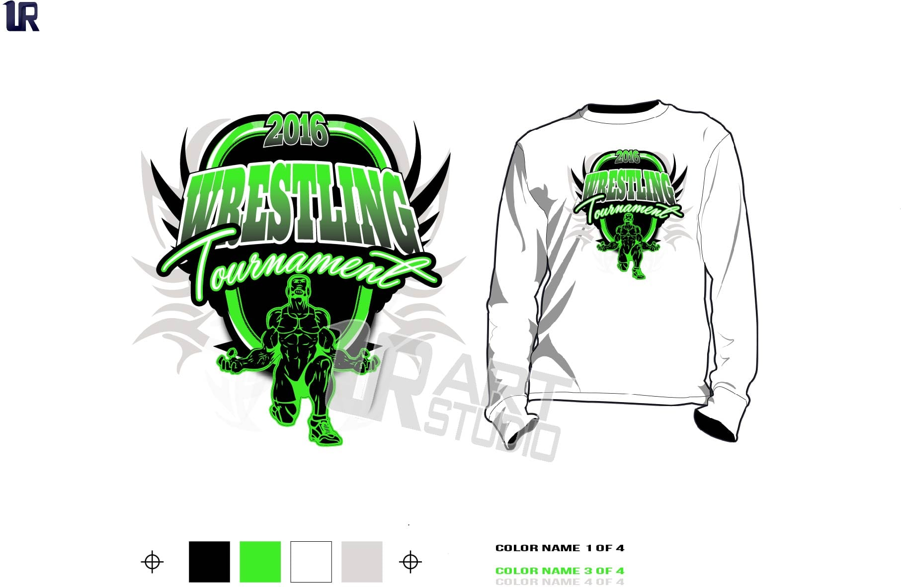 Wrestling Tournament Tshirt Vector Design For Print Urartstudio