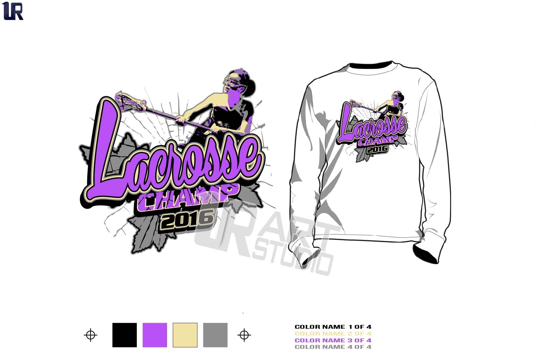 Design t shirt girl - Girls Lacrosse Championship T Shirt Vector Design For Print