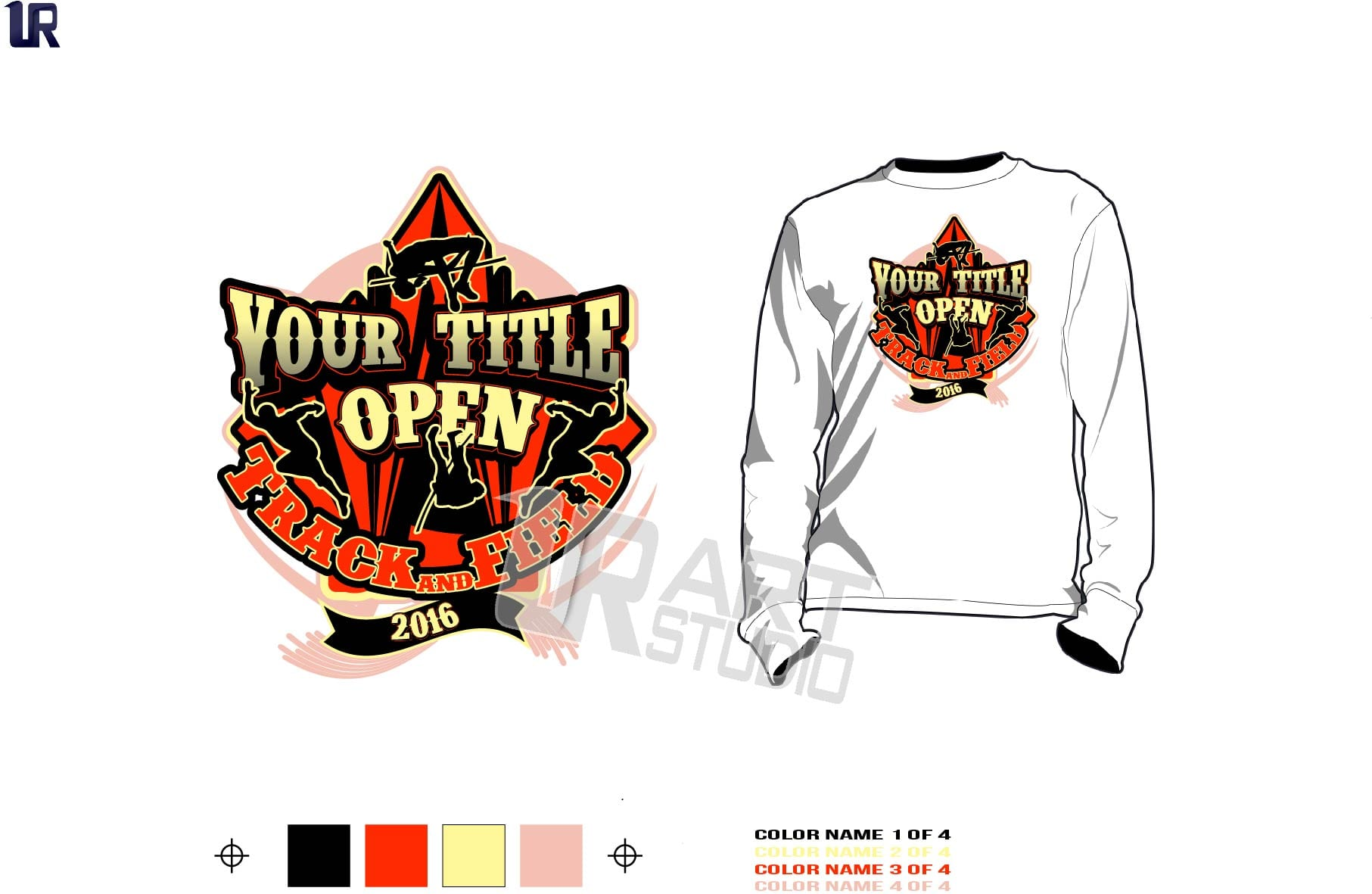 track and field championship t shirt vector design for print