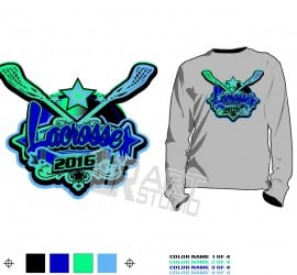 LACROSSE tshirt vector design for print 4 COLOR separated URARTSTUDIO