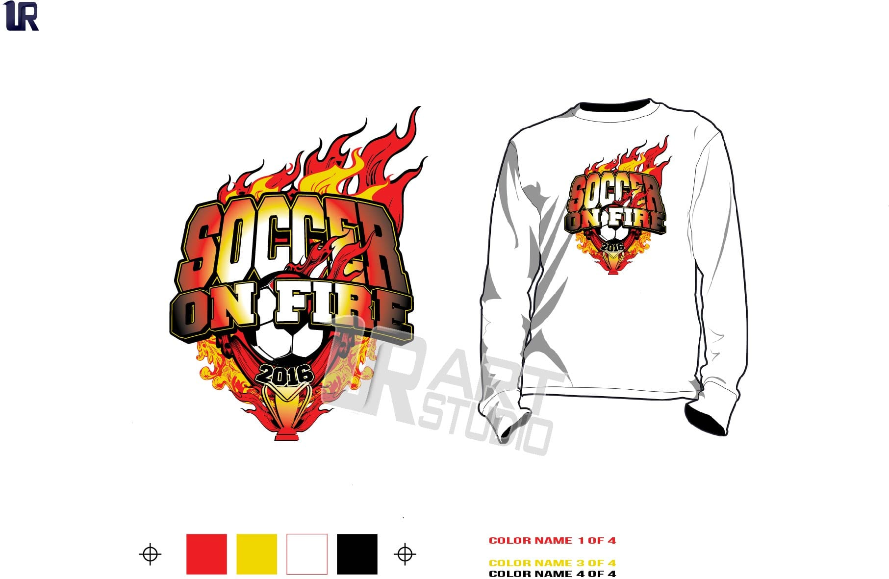 Soccer On Fire Tournament Tshirt Vector Design With Nice Background