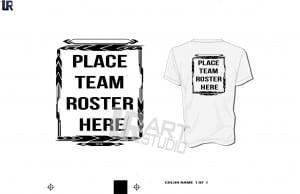 Team Roster Frame one color black color seperated for screen print 2016 UrArtStudio