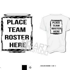 Team Roster Frame one color black color seperated for screen print 2016 UrArtStudio