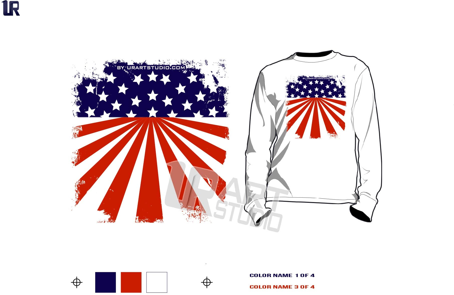 119c365611e FREE DOWNLOAD Color seperated AMERICAN FLAG vector design for print on  Tshirt and other apparel