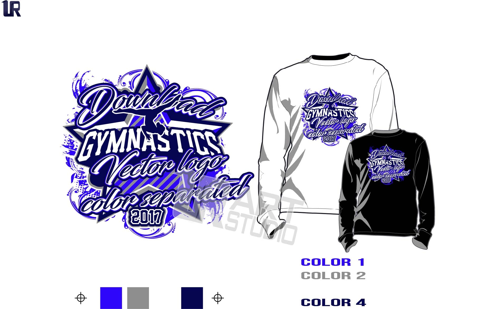 Girl gymnastics tshirt vector design 4 color separated Gymnastics t shirt designs