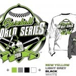 BASEBALL WORLD SERIES 2018 tshirt vector design separated 4 color