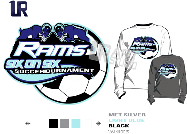 DOWNLOAD PRINT 2018 SOCCER RAMS SIX ON SIX Tshirt vector design separated 4 color