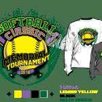 SOFTBALL CLASSIC MEMORIAL TOURNAMENT 2018 tshirt vector design separated 4 color