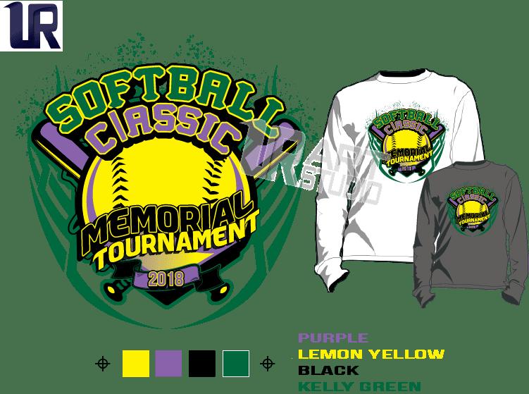 Classic Book Cover T Shirts : Softball classic memorial tournament tshirt vector