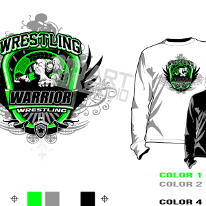 WRESTLING HARDCORE tshirt vector design separated 4 color