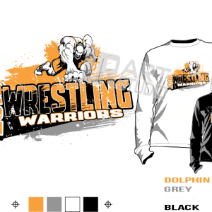 WRESTLING WARRIORS tshirt vector design ready to print