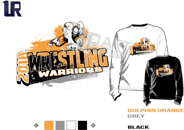 WRESTLING WARRIORS tshirt vector design ready to print
