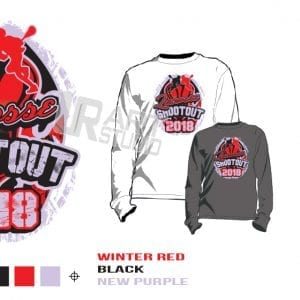 DOWNLOAD 2018 LACROSSE SHOOTOUT Tshirt vector design separated 3 color