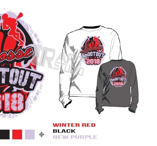 DOWNLOAD 2018 LACROSSE SHOOTOUT Tshirt vector design separated 3 color