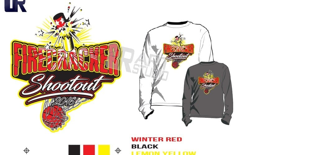 PRINT 2018 FIRECRACKER SHOOTOUT Tshirt vector design separated 3 color