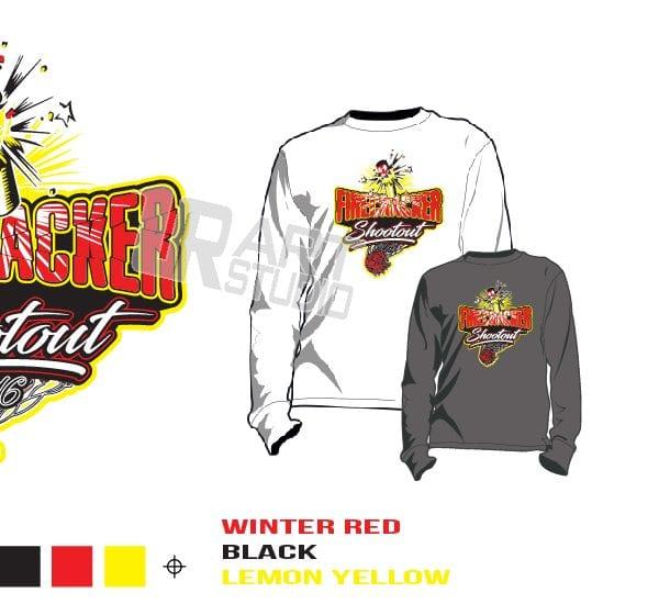 PRINT 2018 FIRECRACKER SHOOTOUT Tshirt vector design separated 3 color