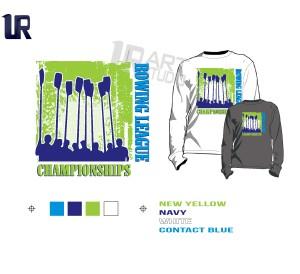 PRINT 2018 ROWING Tshirt vector design separated 4 color