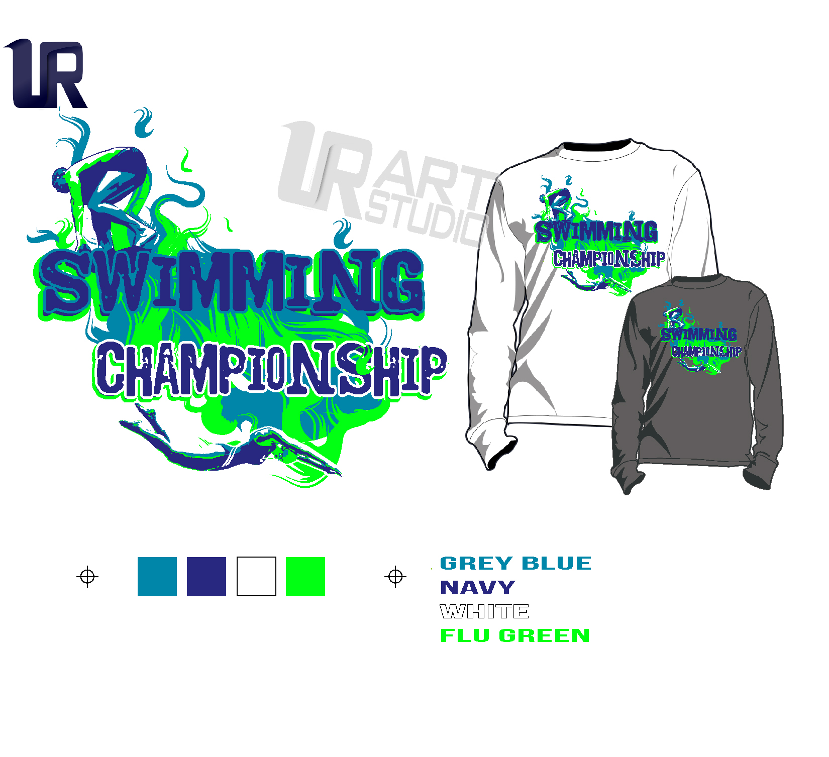 PRINT 2018 SWIMMING Tshirt vector design separated 4 color-01-01